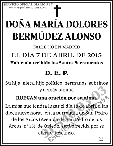 María Dolores Bermúdez Alonso